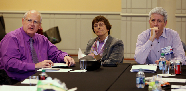 Participants of the meeting (left to right): Dr Perry Pugno, AAFP Vice President for Education, Dr Francine Lemire, CFPC Vice President (and Wonca Member at Large), and Dr Sandy Buchman, CFPC President.