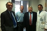 Prof Chris van Weel, Mehmet Sargin, Richard Roberts, and Resat Dabak at the Diabetes Outpatient Clinic of Kartal Lütfi Kırdar Hospital in Istanbul