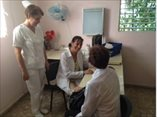 February 2015 - uban family doctor, Katia Medina Matos, and primary care nurse, Gladys Garnier Martinez, consulting in their clinic in the rural village of Lechuga in Cuba