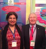 Secretary-General of the College of Family Medicine Pakistan, Dr Shehla Naseem, with WONCA CEO, Dr Garth Manning