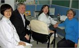 CHINA - Prof Rich Roberts sits in on a consultation with (from l to r): Dr Li Xiao Xiao, Dr Wu Lin, and patient Lu Ming. (June 2012 news)